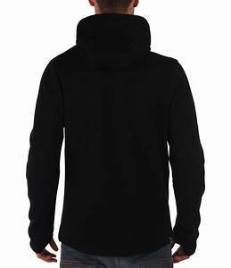 Bench Assertive Plain Zip-thru Hoodie in Black for Men | Lyst