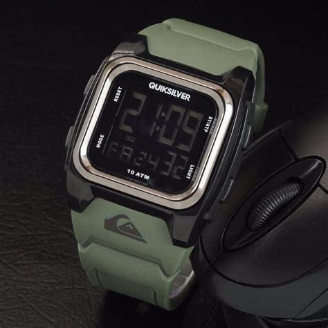 Kotak Jam Murah jual quiksilver lavia kotak tali hijau army digital jam