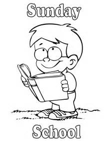 Reading in the Bible Sunday School Coloring Page