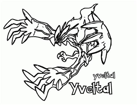 Pokemon X And Y Coloring Pages Printable