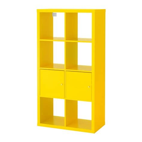 Scaffale Con Ante by Kallax Scaffale Con Ante Giallo 77x147 Cm Ikea