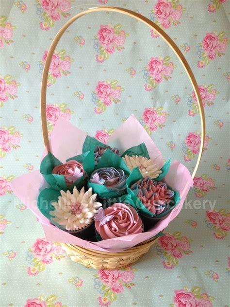 ideas  cupcake gift baskets  pinterest
