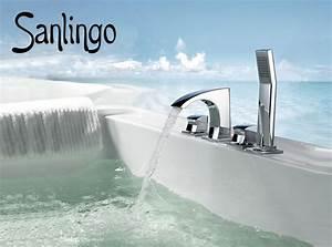 4 Loch Armatur : sanlingo design 4 loch wannenarmatur wannenrand armatur f r badewanne galatina armaturen wanne ~ Frokenaadalensverden.com Haus und Dekorationen