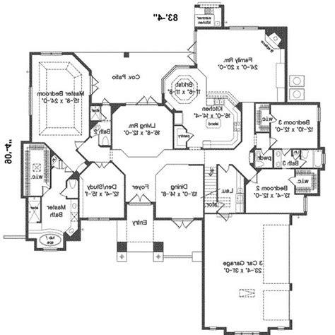split floor plans modern ranch home floor plans house split bedroom plan 52200wm 1st master loversiq