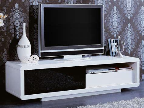 meuble tv rectangulaire quot rosa quot mdf laqu 233 blanc et noir 56892