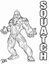 Bigfoot Coloring Finding Squatch Drawing Yeti Sasquatch Drawings Rictor Lineart Printable Riolo Deviantart Popular Stencils Getdrawings Comments Coloringhome sketch template
