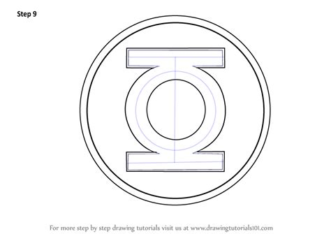learn   draw green lantern logo green lantern step