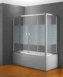 Baignoire Pas Cher : paroi de baignoire coulissante frontale en verre pas cher ~ Melissatoandfro.com Idées de Décoration
