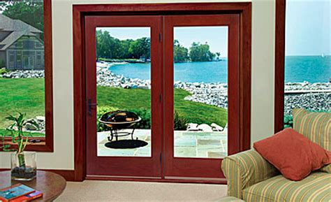 fiber classic oak patio doors therma tru
