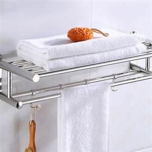 Bathroom, Towel, Holder, Bathroom, Organizer, Stainless, Steel, Wall, Mounted, Towel, Rack, Home, Hotel, Wall