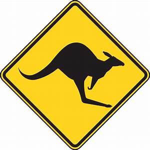 Kangaroo Warning Sign Clip Art at Clker.com - vector clip ...