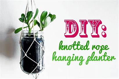 Hanging Planter String Recycled Planters Materials Indoor