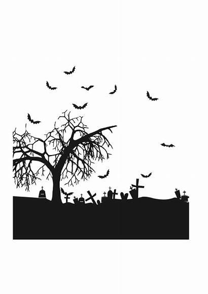 Svg Halloween Cemetery Horror Cricut Silhouette Svgheart