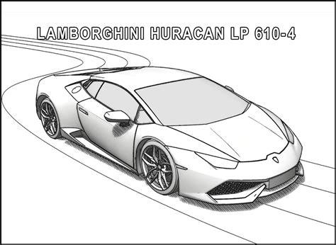 Lamborghini Huracan Lp 610 4 Coloring Page