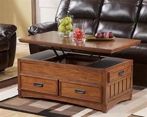 Table Basse Avec Plateau Relevable : la table basse avec tiroir un meuble pratique et d co ~ Teatrodelosmanantiales.com Idées de Décoration