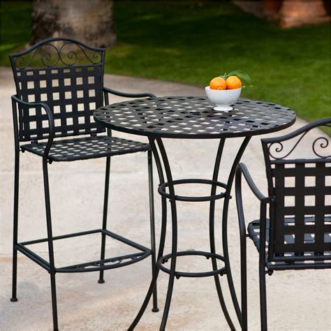 tall outdoor bistro table set bar height patio table and chairs awesome outdoor bistro