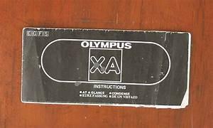 Olympus Xa Instructions At A Glance  47485