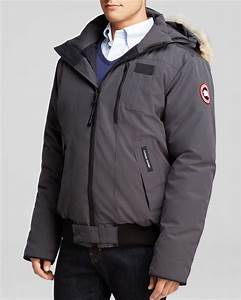 Lyst Canada Goose Borden Bomber Parka With Fur Hood In Gray For Men