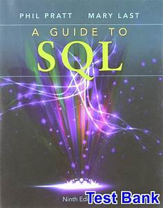 Guide To Sql 9th Edition Pratt Test Bank