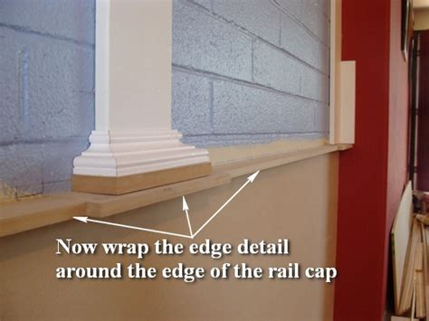 Installing Mdf Wainscoting by Wainscoting 109 Part 2 Installing The Rail Cap Edge