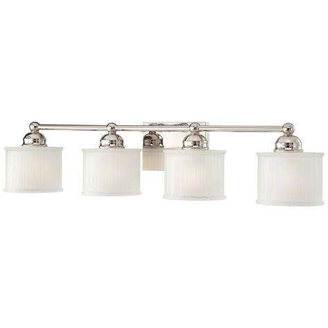 Polished Nickel Bathroom Lighting Fixtures by Minka Lavery 4 Light Polished Nickel Bath Light Products