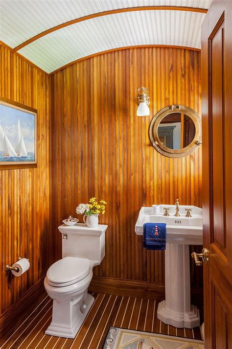 nautical powder room images  pinterest