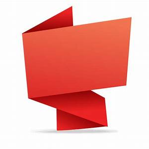 Red rectangular origami banner - Transparent PNG & SVG vector