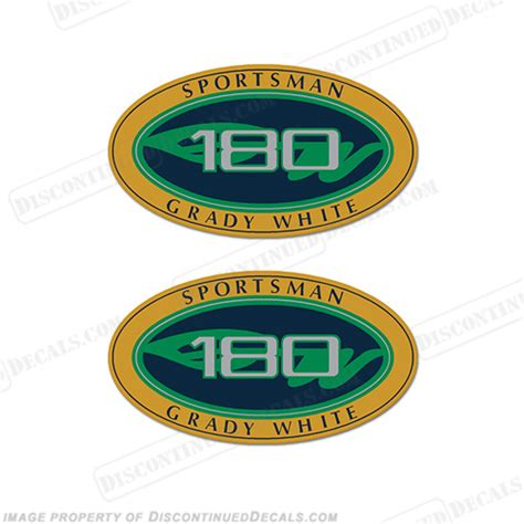 Sportsman Boats Decal by Grady White Sportsman 180 Logo Decals Set Of 2