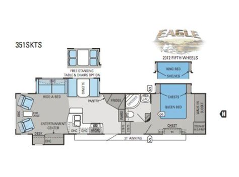 2012 Jayco 5th Wheel Floor Plans by 2012 Jayco Eagle 351skts Fifth Wheel Northside Rvs