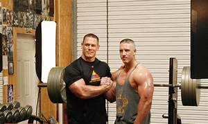 WWE John Cena With Brother Matt Cena in a Gym