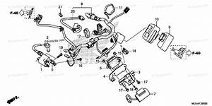 Honda Motorcycle 2013 Oem Parts Diagram For Wire Harness