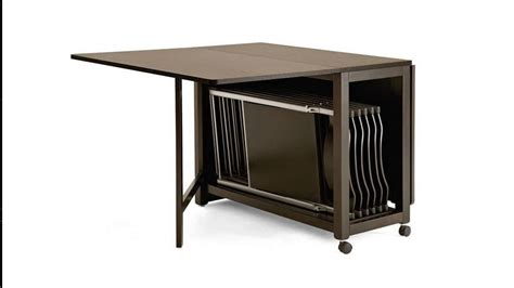 folding dining table with chair storage top small