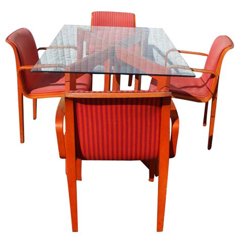 vintage italian dining set table 6 knoll chairs ebay