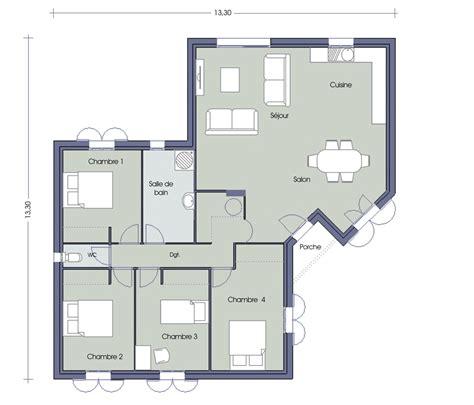 plan maison 120m2 4 chambres plan maison 120m2 4 chambres plan de maison r1 au senegal