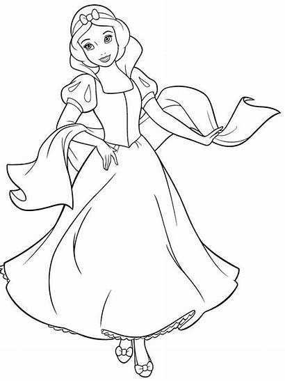 Coloring Snow Disney Princess Coloriage Neige Blanche