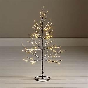 John Lewis 4ft Pre Lit Snowy Twig Christmas Tree White