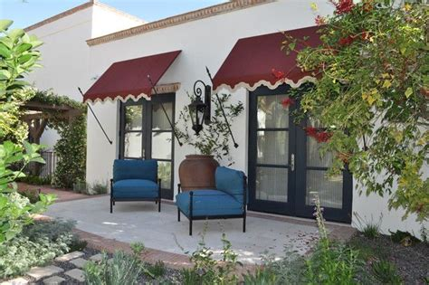 great shade screen blue door placement  patio color theme stucco trim pinterest