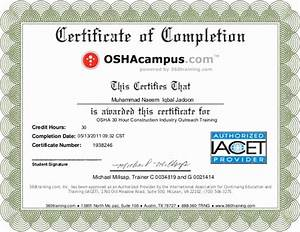 30 Confined Space Certificate Template