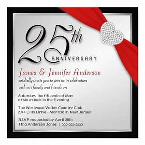 25th wedding anniversary elegant invitations 525 With 25th wedding anniversary invitations with pictures