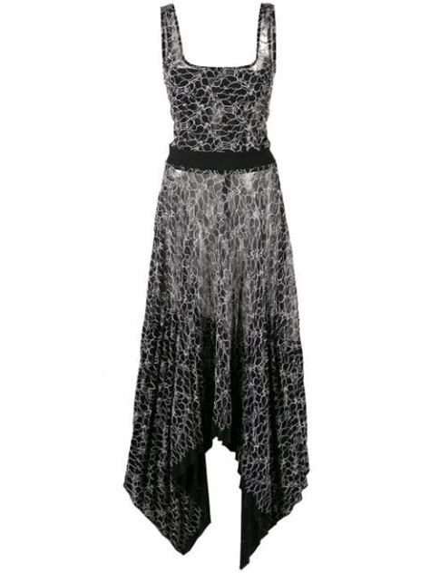 Dion Lee Pleated Lace Corset Dress - Farfetch | Corset ...