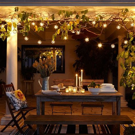 ambiance with indoor string lighting backyard