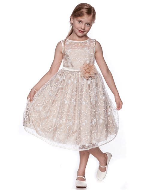 champagne colored flower girl dresses dress yp