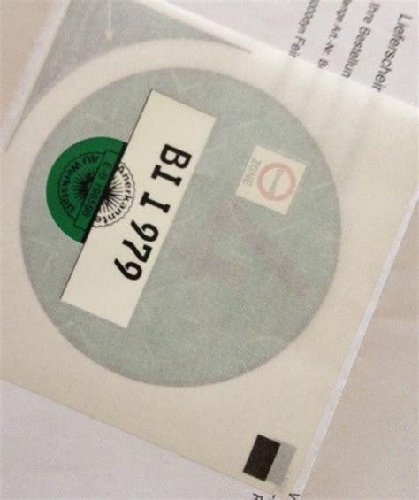 umweltplakette bestellen 196 rger mit der umweltplakette kennzeichen nicht mehr