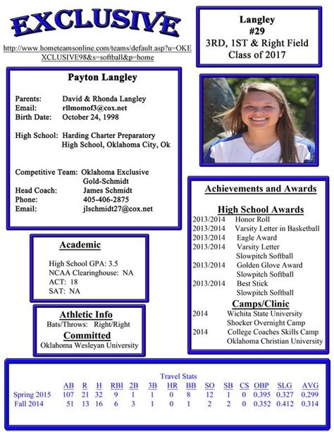 softball player profile template fastpitch softball player profile pictures to pin on pinsdaddy