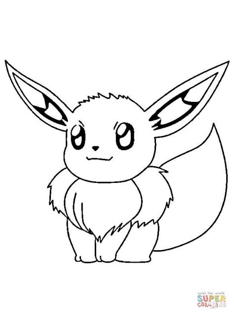 Eevee   Super Coloring   Pokemon coloring pages