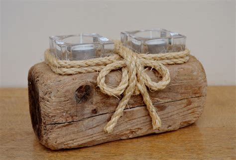 driftwood candle holder sea driftwood candle holders created in uk from