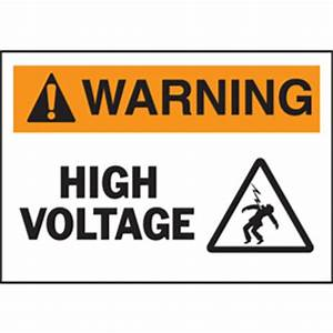 high voltage warning labels safety labels seton canada With high voltage warning label requirements