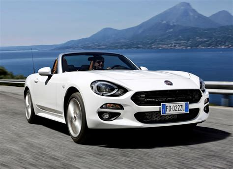 fiat spider white fiat 124 spider convertible 2016 photos parkers