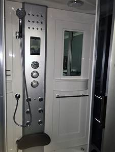 Steam Shower Room With Whirlpool Tub Bluetooth  8007
