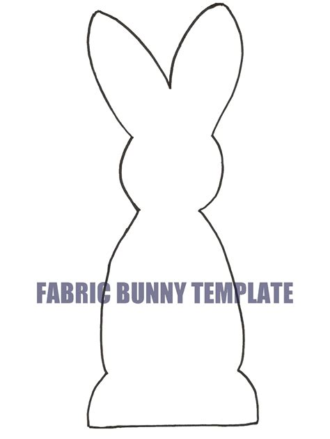 Bunny Template For Sewing by Ben Franklin Crafts And Frame Shop Wa Easy Diy